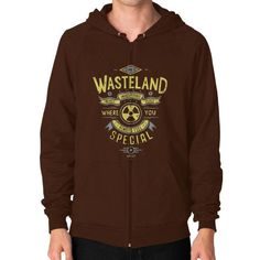 Come to Wasteland Zip Hoodie (on man) Shirt