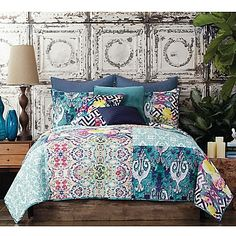 Tracy Porter Poetic Wanderlust Florabella Twin Comforter Set in Teal King Comforter Sets, Bedding Sets, Boho Bedding, Plaid Bedding, Queen Bedding, Luxury Bedding, Bedroom Themes, Bedroom Decor, Bedrooms
