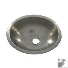 Opella�Brushed-Stainless Steel Stainless Steel Drop-In or Undermount Oval Bathroom Sink