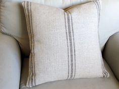 French Laundry  CHOCOLATE Stripes 20x20 pillow