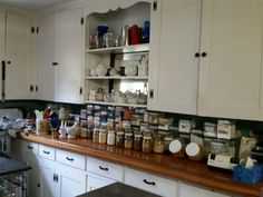 Kitchen as organized in 2016. #organicbaking B & B, Heaven, Kitchen Cabinets, Home Decor, Sky, Decoration Home, Room Decor, Heavens, Cabinets