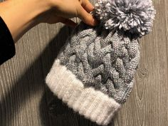 Off-White J191-Off White Wooden Button Mid-Weight Lightweight BYOS Womens Fall French Style Cable Knit Beret Hat W//Sequin