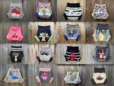 Upcycled Wool Soaker Cover Diaper Cover  With Added Doubler CUSTOM SOAKER Pick Your Size Color Applique