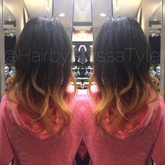 Caramel Ombré by Alyssa Tyler Follow @HairbyAlyssaTyler on Instagram!  #ombre #haircolor #guytang
