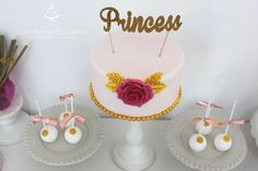 Elegant cake at a princess birthday party! See more party ideas at CatchMyParty.com!