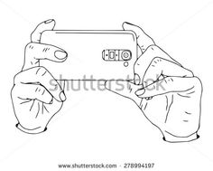 Hands holding smart phone to take picture or record video. Drawing Style, Drawing Base, Drawing Skills, Body Reference Poses, Hand Reference, Character Poses, Character Design References, Hand Holding Something, Hand Illustration