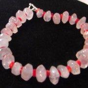 www.bitzofglitz.co  Large Rose Quartz and Coral Necklace  65.00