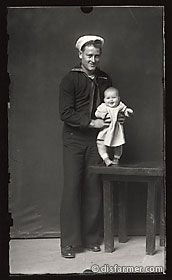 Sailor with His Smiling Baby Daughter:  I've always been fascinated by old photographs.  All taken by Mike Disfarmer, watch the docu Puppet on Netflix for more info.  I'm hooked.