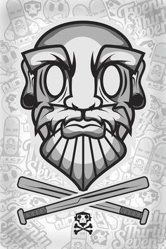 Old Man IG: @2037_Designs #2037 #baseball #oldman #design #graphicdesign #streetwear #tshirts #tees #vector #art #artwork #illustration