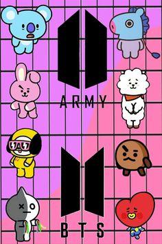 Explore Cooky Wallpapers on WallpaperSafari Army Wallpaper, Cartoon Wallpaper, Bts Wallpaper, Bts Taehyung, Bts Jimin, Bts Kawaii, Iphone Tela, Bts Army Logo, Bts Merch