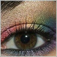 Sexy dramatic rainbow eyeshadow