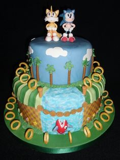 Sonic The Hedgehog Green Hill Zone Cake — Birthday Cakes