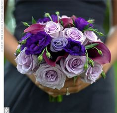 Purple Bridesmaid Bouquet