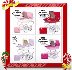 Silver Cross  Dolls Prams