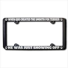 This is one new, made in the USA, high-impact black acrylic license plate frame. It uses precision, computer-cut solid vinyl for the text.
