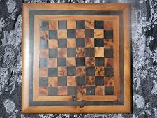 Antique/Vintage Hand Made Chess Board With Walnut Tiles