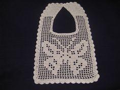Ravelry: Filet Crochet Bib - Butterfly pattern by Maria Bittner