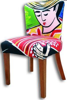 Silla Arte Country, Arte Pop, Ideas Para, Anna, Furniture, Home Decor, Chairs, Trays, Hand Art