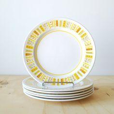 Vintage Mikasa Salad Plates Mediterrania Sunda Mid Yellow by vint, $16.00