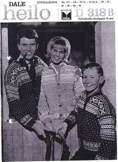 Setesdal D318 B Norwegian Knitting, Crochet Tops, Jumpers, Knitting Patterns, Poster, Jackets, Vintage, Inspiration, Tricot