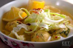Pittige soep met visballetjes