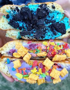 These Photos Of The Insane Food At Coachella Will Make You So F*cking Hungry Delicious Deserts, Yummy Food, Coachella Food, Candy Recipes, Snack Recipes, Extreme Food, Tumblr Food, Easy Homemade Recipes, Rainbow Food