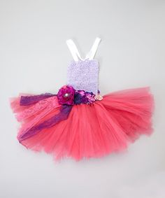 Look what I found on #zulily! Lavender Tutu Dress & Flower Sash - Toddler by Tulles of Love #zulilyfinds