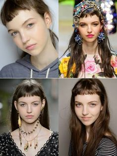 Hairstyles with pony: The most beautiful fringe hairstyles Fringe Hairstyles, Elegant Hairstyles, Hairstyles With Bangs, Cool Hairstyles, Short Bangs, Long Hair With Bangs, Hair Inspo, Hair Inspiration, Grunge Hair