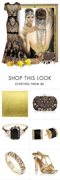 """Gold and black evening dress"" by fashionrushs ❤ liked on Polyvore featuring Chanel, Carolina Herrera, Lipsy, Anna Sheffield, Vince Camuto, Vanzi and Givenchy"