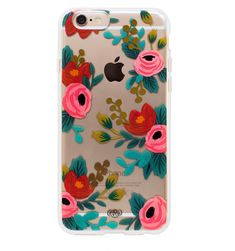 Transparent Clear Rosa Slim Cell Phone Cover for iPhone 6 Rifle Paper Co.: Rifle Paper Co. has expanded their beautiful designs to cell phones. Color of your phone shows through the translucent pattern. Floral Iphone Case, Iphone 6 Plus Case, Cute Cases, Cute Phone Cases, Laptop Cases, Iphone 6 Covers, Iphone Cases, Phone Cover, Iphone Phone