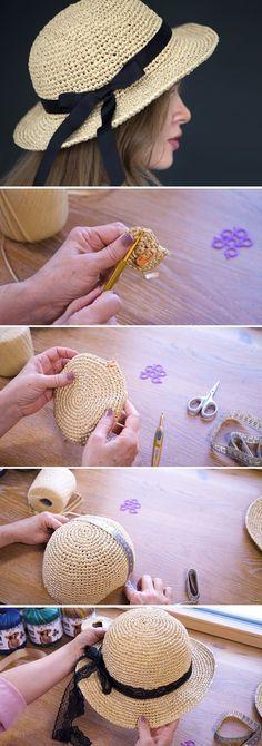 crochet hat patterns Summertime Hat Crochet Tutorial - Design Peak Source by Crochet Gifts, Free Crochet, Knit Crochet, Crochet Baby, Sombrero A Crochet, Crochet Beanie, Crochet Tutorial, Tutorial Sewing, Amigurumi Tutorial