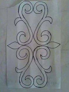 This Pin was discovered by HarI love the blend of asymmetry and symmetry in this one pattern. Stencil Patterns, Stencil Designs, Quilt Patterns, Sewing Patterns, Hand Embroidery Designs, Beaded Embroidery, Embroidery Stitches, Embroidery Patterns, Crazy Quilting