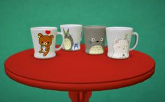 Cups for pawsofhoney-cc. 4 rc. Download DropboxMesh by simplystudio404!/Made with Sims 4 Studio(in pic: table by Veranka)