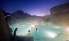 Both ski & spa in the Swiss Alps one winter? The Bogn Engiadina spa in Scoul, Switzerland.