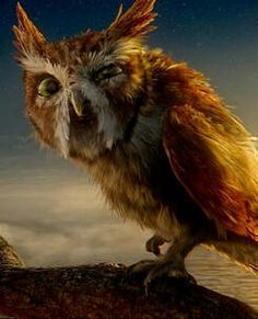 Ezylryb, the Guardians of Ga'Hoole... voiced by Geoffrey Rush. I can't get over how they animated this owl so well that he FEELS like actually watching Geoffrey Rush. His facial expressions are dead on.
