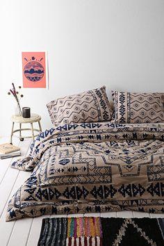 4040 Locust Kody Comforter - Urban Outfitters. Boho/tribal navy motif