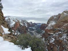 Angel's Landing Hike in Winter, Zion National Park