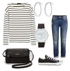 """""""After School Errands"""" by diana-samaniego-juridini on Polyvore featuring Converse, H&M, J.Crew, Kate Spade, IBB and ALDO"""