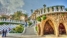 Parc guell von Antonio Gaudi in Barcelona