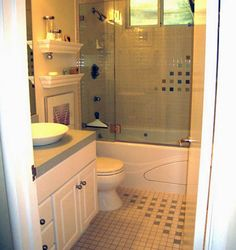 Best Small Bathroom Ideas | hac0.com Glass doors really open up the small room.