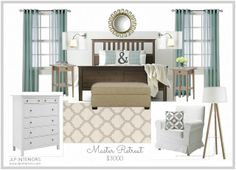 Home with Baxter: Mood Board Monday! (Master Bedroom Retreat)