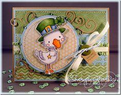 """Kiss Me, I'm Irish!"" by Cheryl of http://shestamps.blogspot.com"