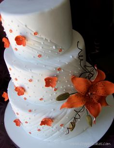 Tiger Lily Wedding Cake