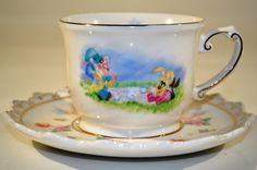 Alice in Wonderland Teacup and Saucer/Disney by decor4home2