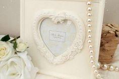 Vintage Cream Heart Frame