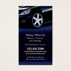 298 Best Auto Detailing Business Cards