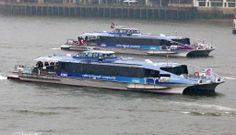 Thames Clippers, London's river commuter service.