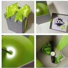 regalo sorpresa con globo
