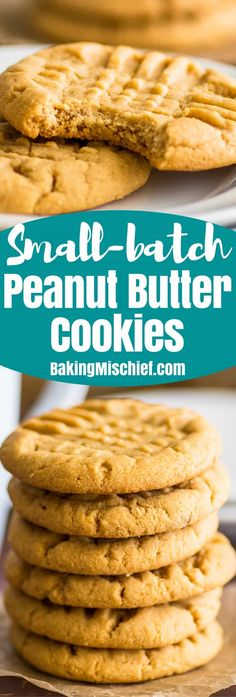 These small-batch Peanut Butter Cookies are easy to make, super peanut buttery, and SO addictive. | #cookies | #peanutbutter | Small-batch Desserts | Desserts for Two |