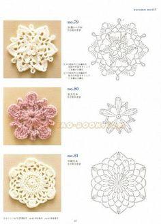 Varietà di fiorellini all'uncinetto con schema per applicazioni Shabby - Il blog italiano sullo Shabby Chic e non solo